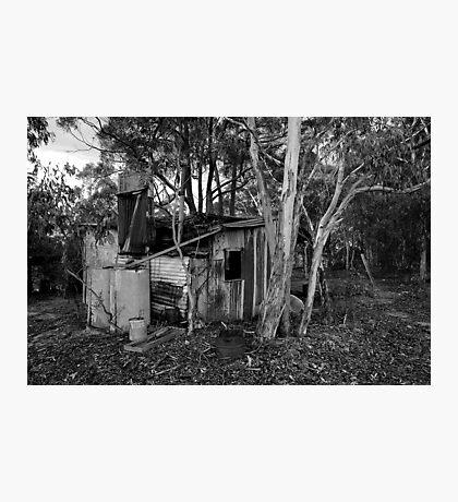 miners hut B&W Photographic Print