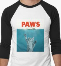 Paws - Cat Kitten Meow Parody T Shirt Men's Baseball ¾ T-Shirt