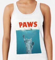 Camiseta con espalda nadadora Paws - Cat Kitten Meow Parodia Camiseta