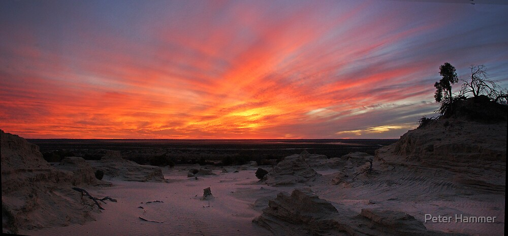 Sunset over Lake Mungo by Peter Hammer