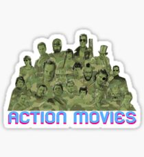 Action Movies Sticker