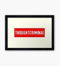 THOUGHTCRIMINAL 2017 Framed Print