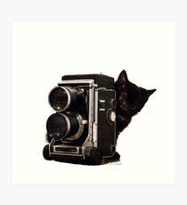 Feline Photographer Art Print