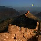 Moonrise over the Great Wall by Peter Hammer