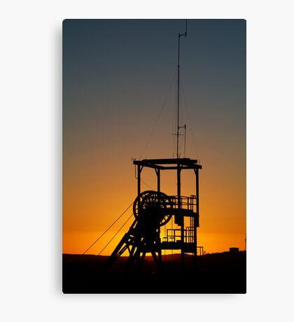 Poppet Head Sunset Broken Hill Canvas Print