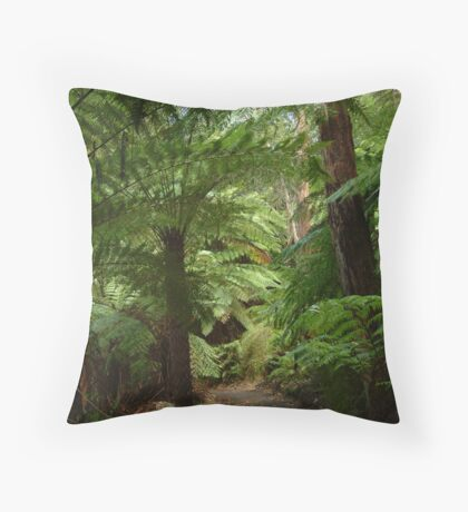 Tree Ferns, Otway Ranges Throw Pillow