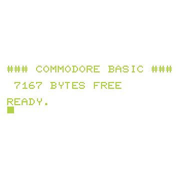 Commodore BASIC is READY. by BrokenHorn