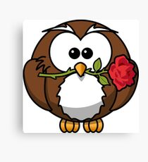 Cute valentine penguin Canvas Print