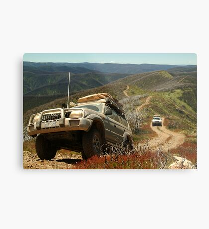 Mountain Driving, Blue Rag Range Metal Print