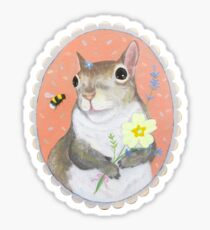 Squirrel and the Bee Sticker