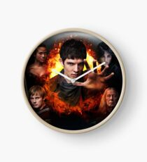 Merlin Cast - Season 5 Clock