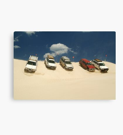 Dune Drivers,Robe Beach District South Australia Canvas Print