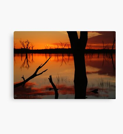 Red Reflections, Lake Fyans Grampians Canvas Print