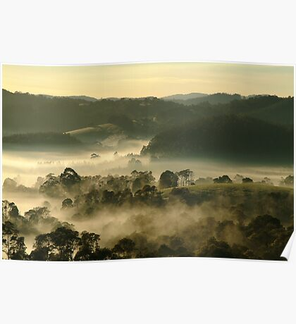 Valley Fog,Dollar, Gippsland Poster