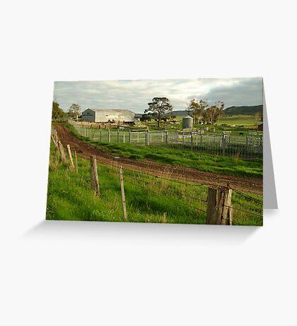 Dairy Farm,Rowsley Greeting Card