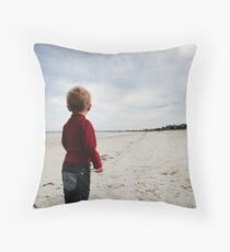 It's a long walk Throw Pillow