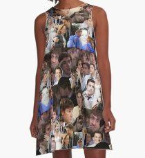 Jim Halpert Collage (+ Pam) A-Line Dress