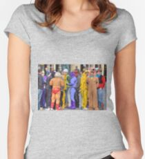 Comic book heroes Women's Fitted Scoop T-Shirt
