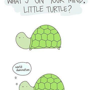 ¿Qué tienes en mente pequeña tortuga? de gekep