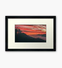 Sunrise at Monte Stivo Framed Print