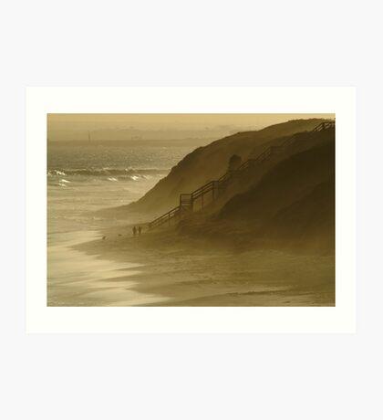 Walk the Dogs 13th Beach Art Print
