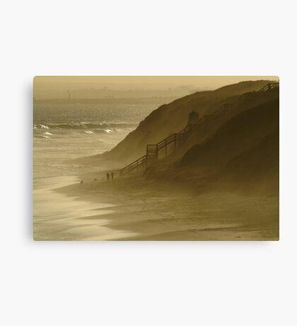 Walk the Dogs 13th Beach Canvas Print