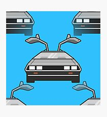 blue Delorean Photographic Print