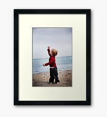 Look! Up in the sky! Framed Print