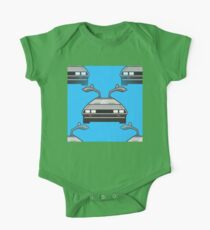 blue Delorean One Piece - Short Sleeve