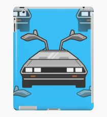 blue Delorean iPad Case/Skin
