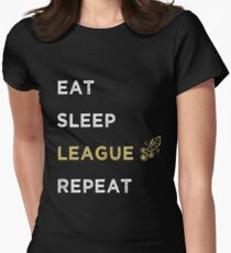 EAT SLEEP LEAGUE, Legends Gaming Womens Fitted T-Shirt