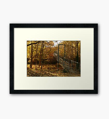 Autumn Walk Clunes Framed Print