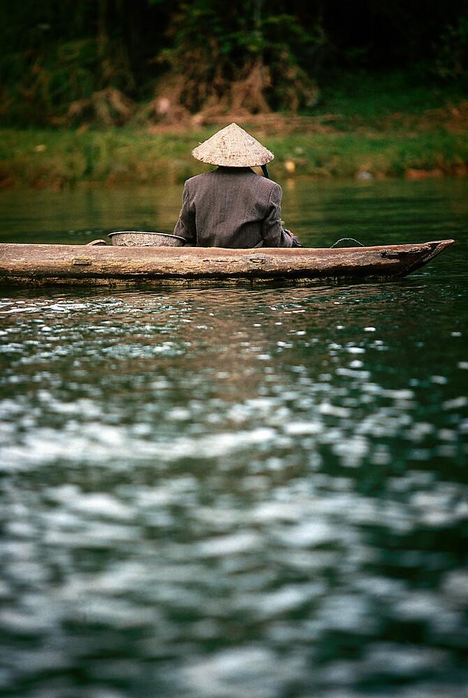 Ca Mau boatman by Anthony Begovic