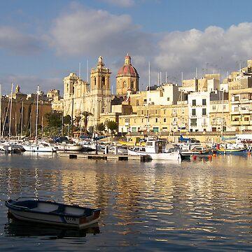 St. Lawrence Church Birgu Malta by dgatt