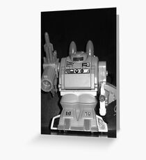black and white of warlord Greeting Card