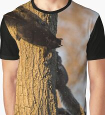Sciurus Carolinensis - Eastern Gray And Black Squirrels In A Morning Chase Around A Tree | New York City, New York Graphic T-Shirt