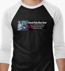 Oswald Ruby Blues Band Men's Baseball ¾ T-Shirt