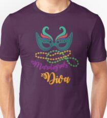 Mardi Gras Diva T-shirt and Apparel Unisex T-Shirt