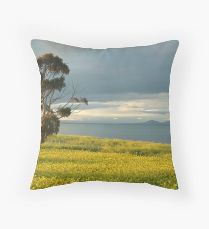 Golden Fields, Bellarine Peninsula Throw Pillow