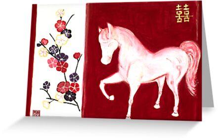 'PEACH BLOSSOM HORSE' by energymagic