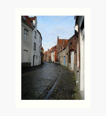Streets of Brugge. Art Print