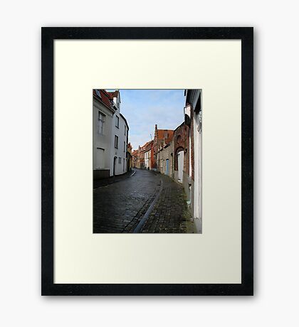 Streets of Brugge. Framed Print