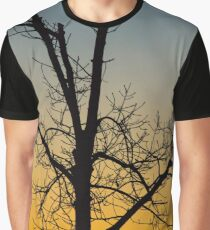 Tree's Silhouette At Dawn | New York City, New York Graphic T-Shirt