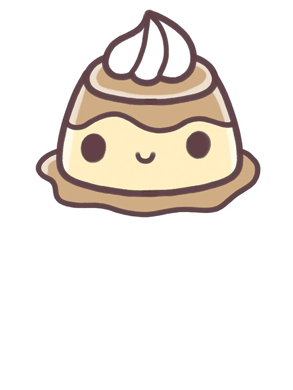 """Kawaii Pudding"" Stickers by shadowdrag 