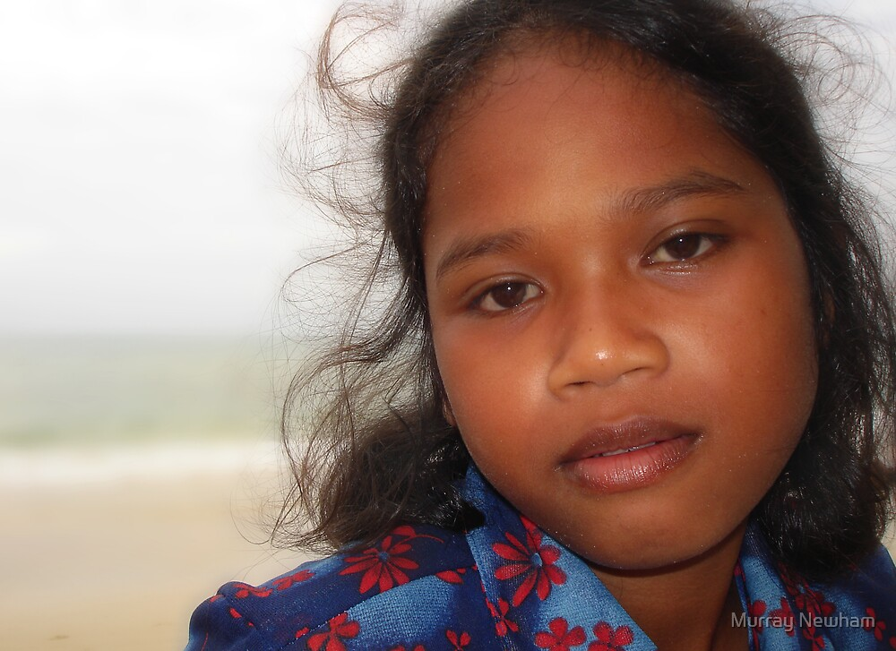Cambodian Beach Seller by Murray Newham