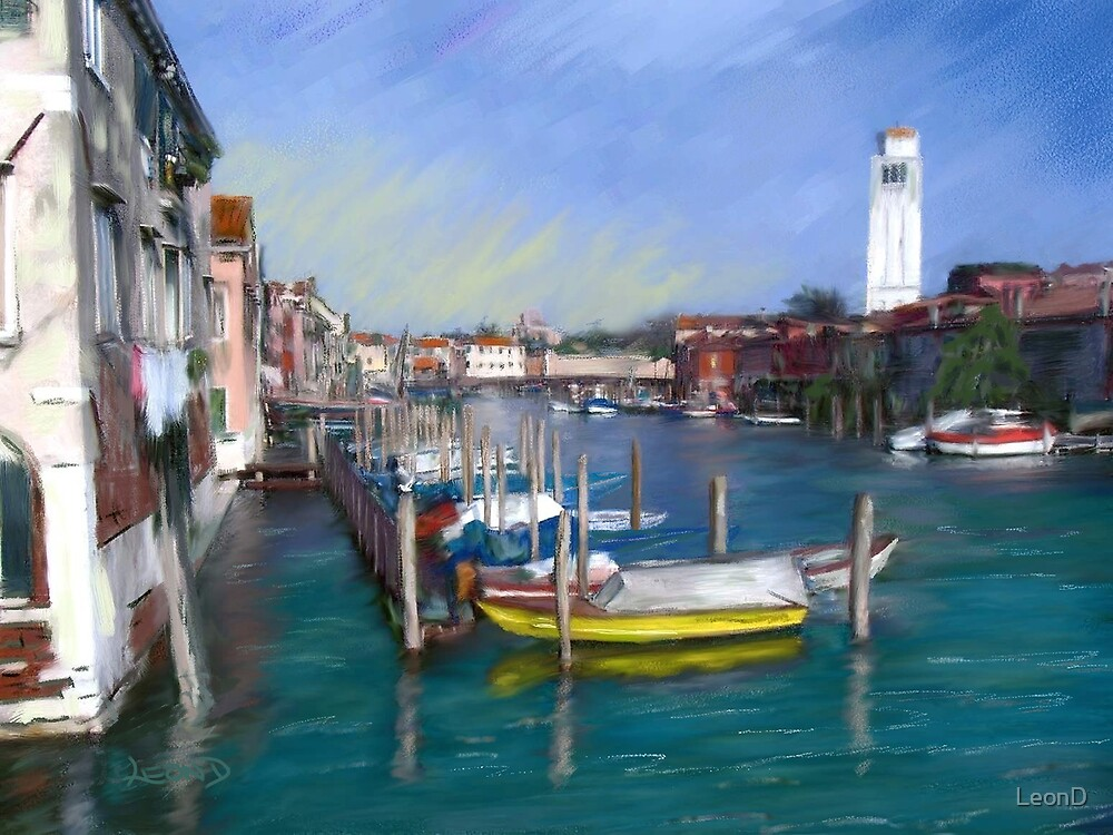 A Canal In Venice by LeonD