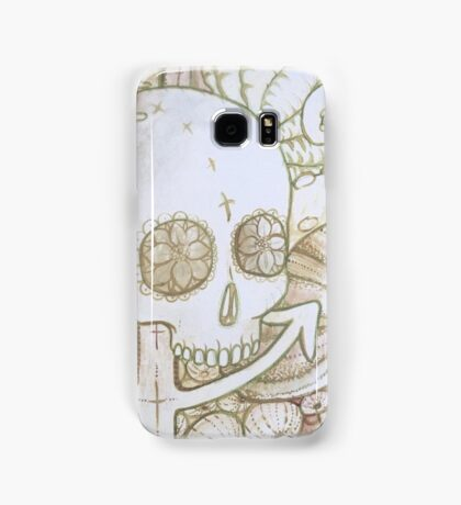 skull in the ocean sketch Samsung Galaxy Case/Skin