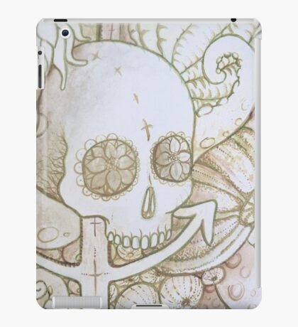 skull in the ocean sketch iPad Case/Skin