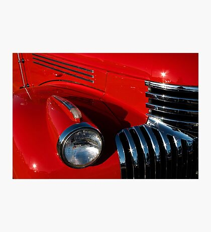 Chevy Red Photographic Print