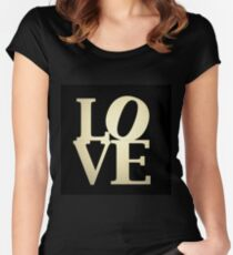 Love Park Philadelphia Sign Women's Fitted Scoop T-Shirt